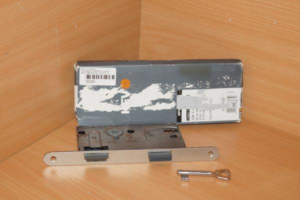 Zimmertürschloss Einsteckschloss KFV 104-1/2-WC altsilberlack 55/20 R