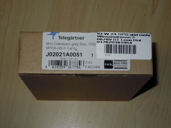 TELEGÄRTNER Miniverteiler Switch 6-Port Cat.6A J02021A0051 Neu OVP