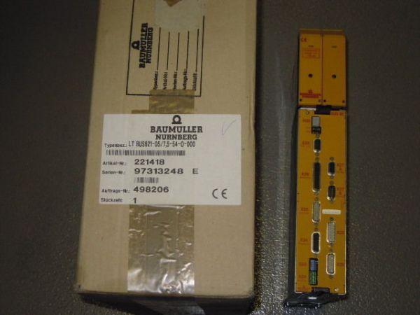 Baumüller Leistung und Regelgerät BUS621-05/7,5-54-0-000 BUS6-E-SM-0012-A011-000
