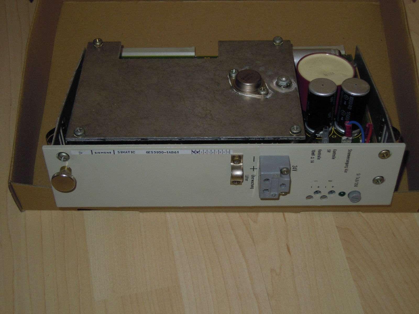 Siemens Simatic S5 Stromversorgung 950 6ES5950-1AB61 6ES5 950-1AB61