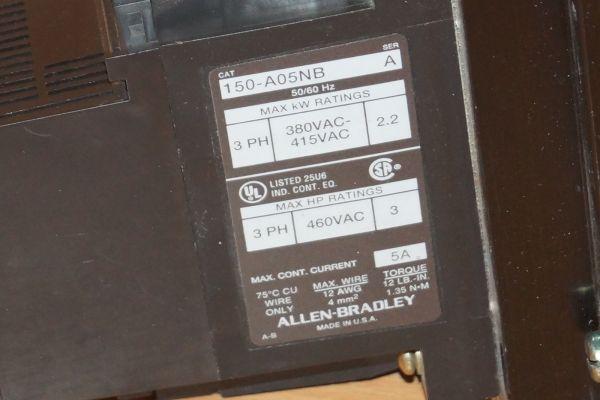 Allen Bradley 150-A05NB Smart Motor Controller SMC-2