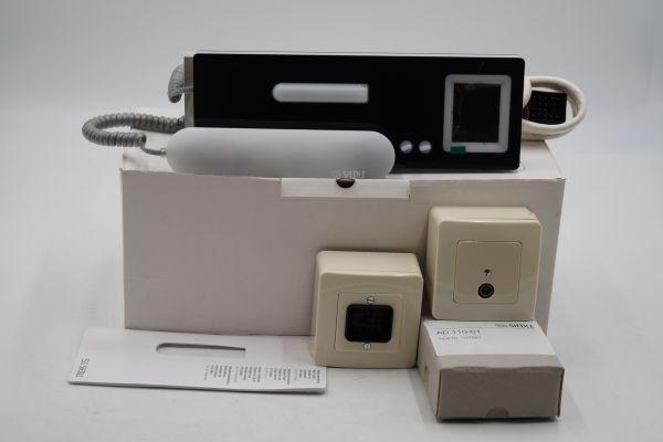 Siedle HTSV 840-0 S Telefon Standard mit Farb-Monitor Schwarz Front
